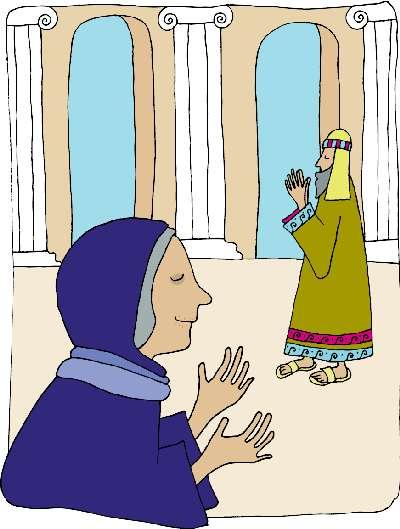 Illustrasjon Hanna og Simeon i Templet
