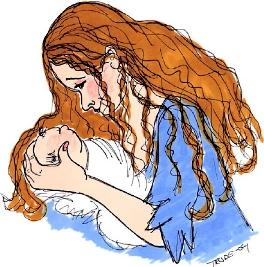 Illustrasjon Maria med barnet