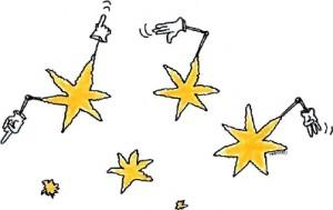 Illustrasjon stjernene gir tegn