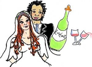 Illustrasjon brudefolkene i Kana
