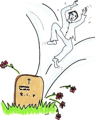 Illustrasjon Lasarus ved sin grav