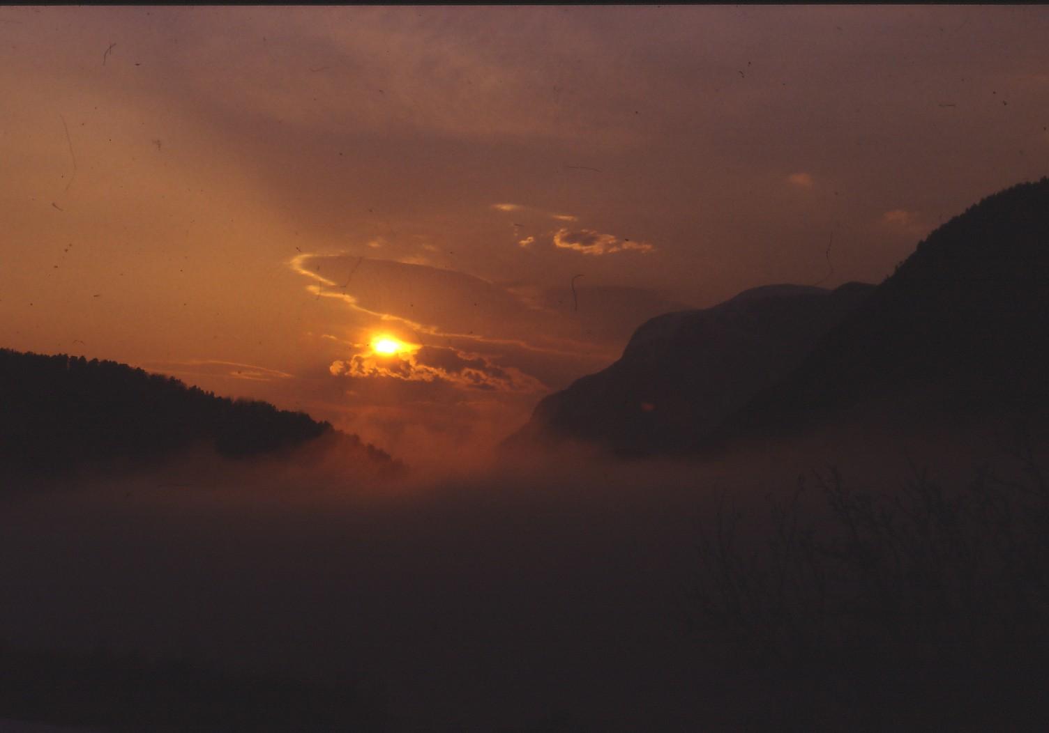 Illustrasjon solnedgang