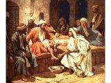 Jesus vasker disiplenes føtter