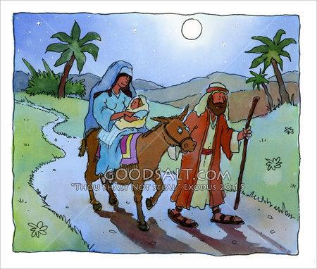 Josef, Maria og Jesus