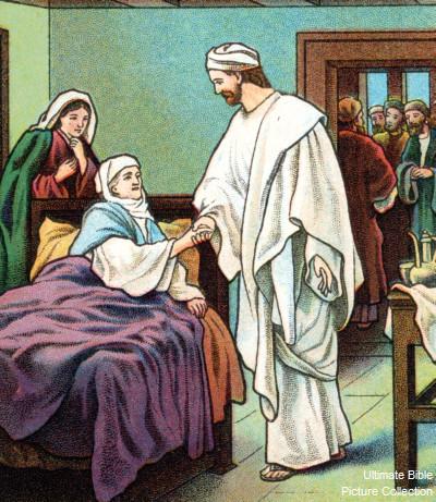 Jesus helbreder Peters svigermor