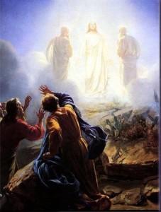 Jesus Moses og Elia på fjellet