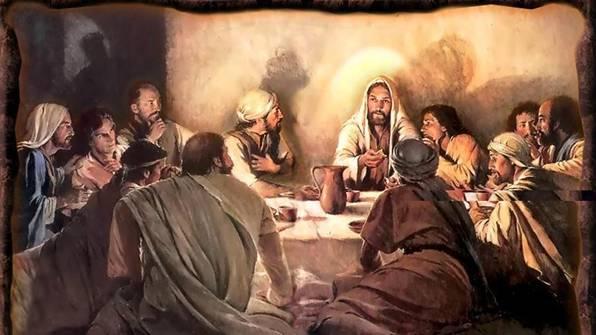 Jesus og disiplene nattverdsbordet