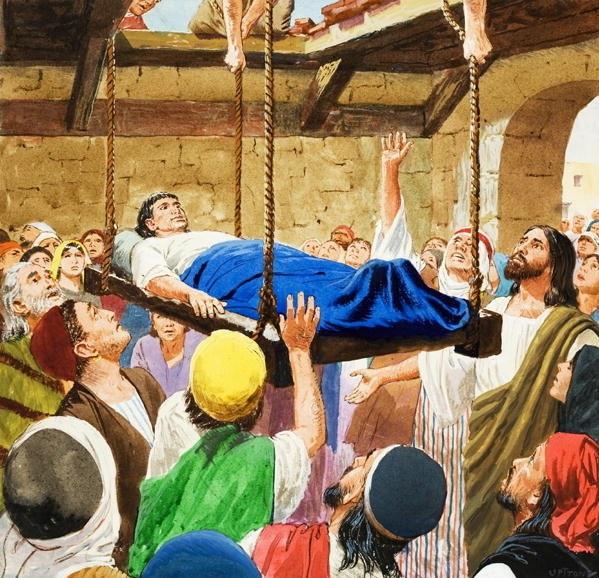 jesus-helbreder-den-lamme-som-ble-senket-ned